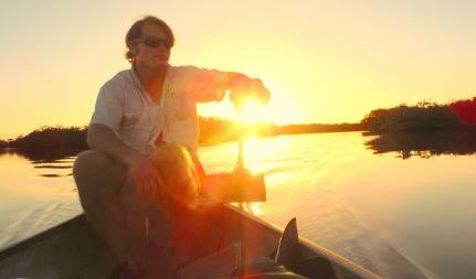Me driving canoe